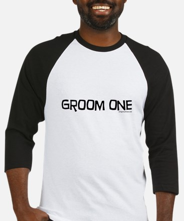 Groom one funny wedding Baseball Jersey