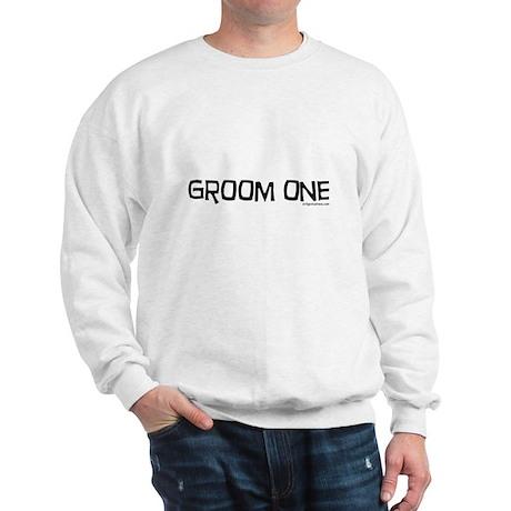 Groom one funny wedding Sweatshirt