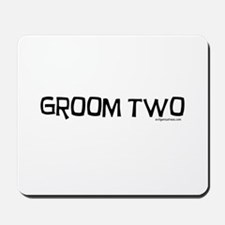 Groom two funny wedding Mousepad