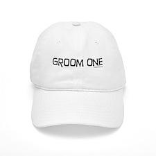 Groom one funny wedding Baseball Cap