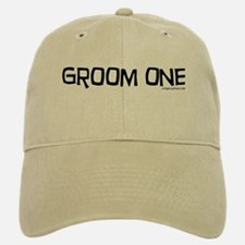 Groom one funny wedding Baseball Baseball Cap