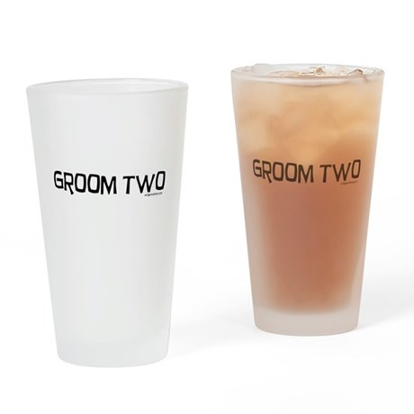 Groom two funny wedding Drinking Glass