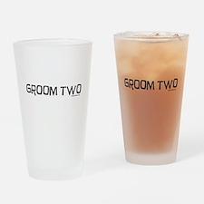 Groom two funny wedding Drinking Glass