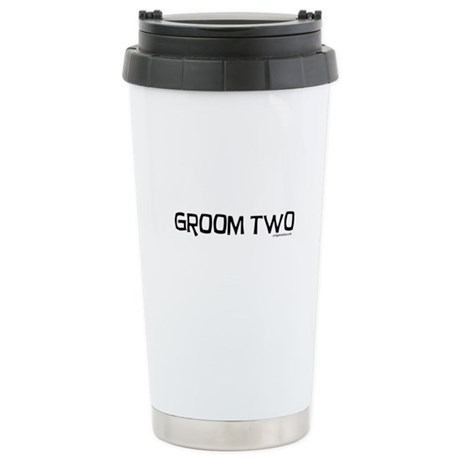Groom two funny wedding Stainless Steel Travel Mug