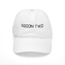 Groom two funny wedding Baseball Cap