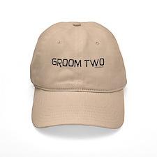 Groom two funny wedding Baseball Baseball Cap