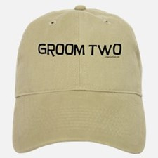 Groom two funny wedding Baseball Baseball Cap