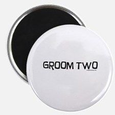 Groom two funny wedding Magnet