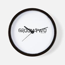 Groom two funny wedding Wall Clock