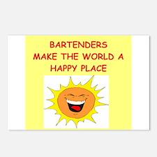 bartenders Postcards (Package of 8)