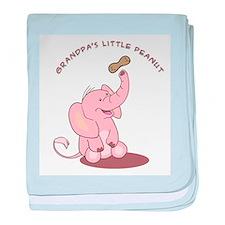 Grandpa's Little Peanut - Pink baby blanket