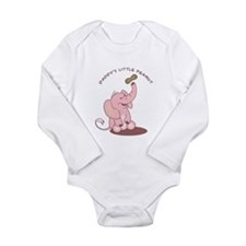 Daddy's Little Peanut - Pink Long Sleeve Infant Bo