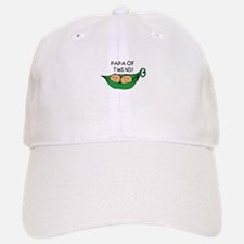 Papa of Twins Pod Baseball Baseball Cap