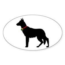 Christmas or Holiday German Shepherd Silhouette St