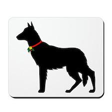 Christmas or Holiday German Shepherd Silhouette Mo