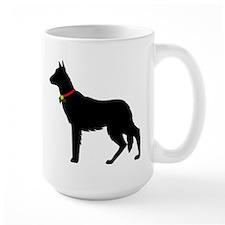 Christmas or Holiday German Shepherd Silhouette La
