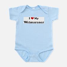 I Love Weimaraner Infant Creeper
