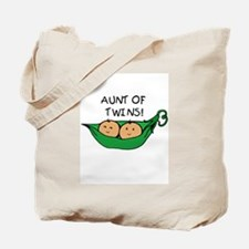 Aunt of Twins Pod Tote Bag