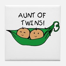 Aunt of Twins Pod Tile Coaster