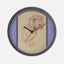 Wirehaired Dachshund Dog Art Wall Clock