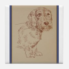 Wirehaired Dachshund Dog Art Tile Coaster