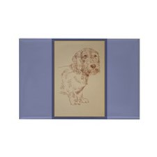 Wirehaired Dachshund Dog Art Rectangle Magnet