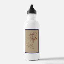 Wirehaired Dachshund Dog Art Water Bottle