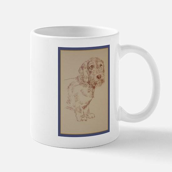 Wirehaired Dachshund Dog Art Mug
