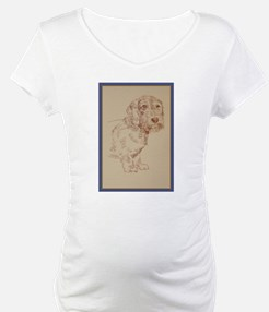 Wirehaired Dachshund Dog Art Shirt