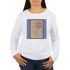 Wirehaired Dachshund Dog Art T-Shirt