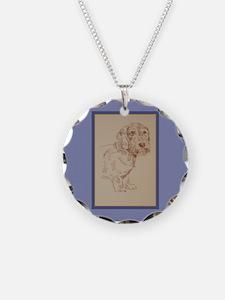 Wirehaired Dachshund Dog Art Necklace