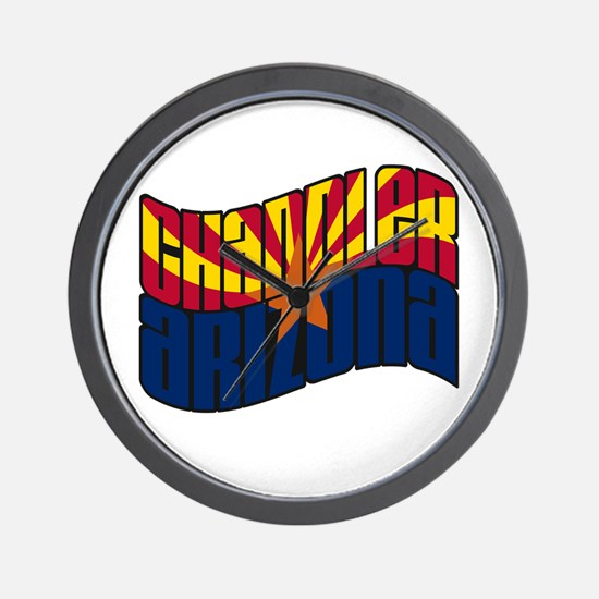 Chandler AZ Flag Wall Clock