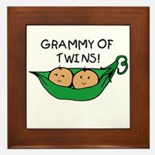 Grammy of Twins Pod Framed Tile