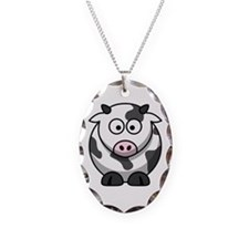 Cow Necklace Oval Charm