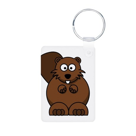 Beaver Aluminum Photo Keychain
