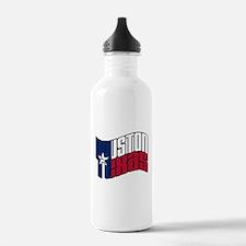 Houston TX Flag Water Bottle
