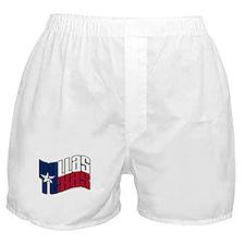Dallas TX Flag Boxer Shorts