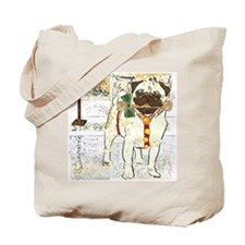 Holiday Pug Tote Bag