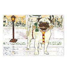Holiday Pug Postcards (8)
