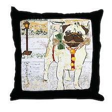 Holiday Pug Throw Pillow