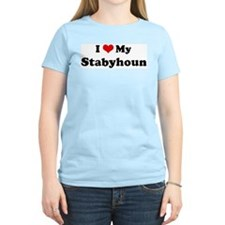 I Love Stabyhoun Women's Pink T-Shirt