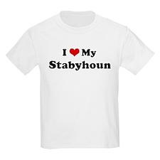 I Love Stabyhoun Kids T-Shirt