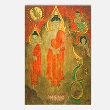 Sun, Nagas, Enchanted Buddhas Postcards (8)