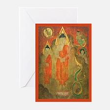 Sun, Nagas, Enchanted Buddhas Greeting Cards (10)