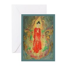The Buddha in a Glass Greeting Cards (10)