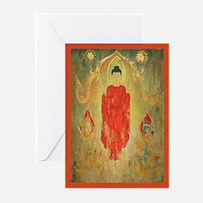 Thai Buddhas Stars + Moon Greeting Cards (10)