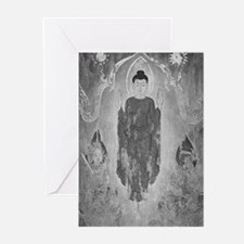 Buddhas, Stars + Moon BW Greeting Cards (10)