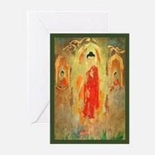 3 Enchanted Buddhas Greeting Cards (Pk of 10)