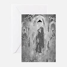 3 Enchanted Buddhas BW Greeting Cards (Pk of 10)