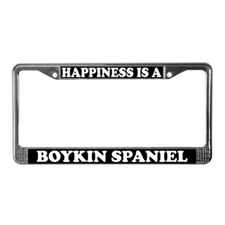 Happiness Is A Boykin Spaniel License Plate Frame